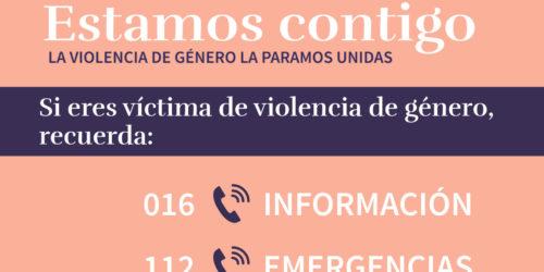 Donem suport a les campanyes contra la violència masclista